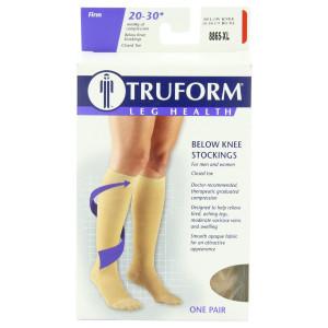Truform 8865, Compression Stockings, Below Knee, Closed Toe, 20-30 mmhg, Beige, XL