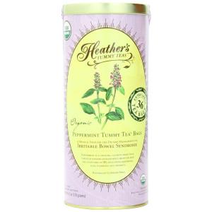 Heather's Tummy Teas Organic Peppermint Tea Bags, 4.2 oz (36 Jumbo Teabags) for IBS