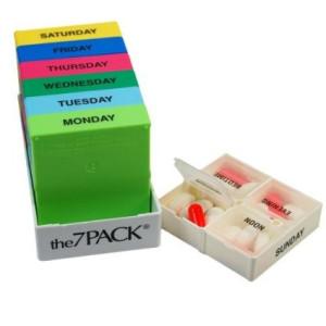 7 Day Pill Pack - Medicine Organizer Dispenser
