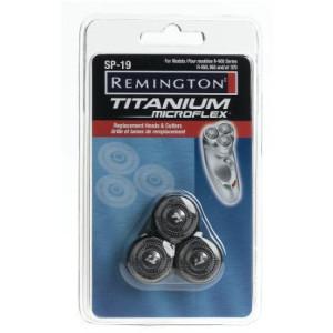 Remington SP 19 Titanium MicroFlex Replacement Heads and Cutters for Titanium Microflex Rotary Shavers, Models R-950, R-960, Black