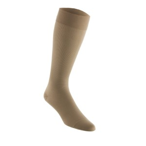 Men's 15-20 mmHg Moderate Support Closed Toe Knee High Support Sock Size: Large, Color: Khaki