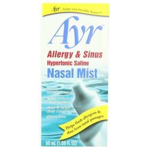 Ayr Allergy and Sinus Hypertonic Saline Nasal Mist, 1.69 Ounce Spray Bottle