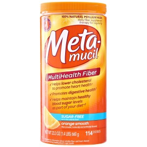 Metamucil MultiHealth Fiber Orange Smooth Sugar Free 114 Doses 23.3 OZ