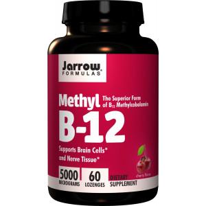 Jarrow Formulas Methylcobalamin (Methyl B12), 5000mcg, 60 Lozenges