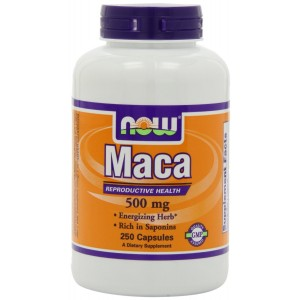 NOW Foods Maca 500mg, 250 Capsules (Packaging May Vary)