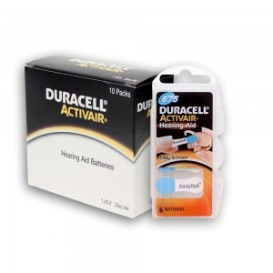 60 Duracell Hearing Aid Batteries Size: 675