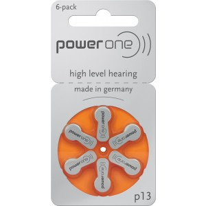Power One Size 13 Zinc Air Hearing Aid Batteries (60 batteries)