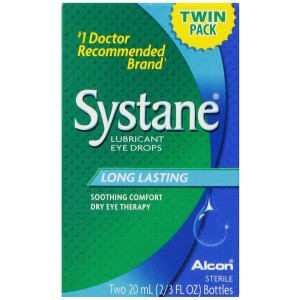 Systane Lubricant Eye Drops, 2-Count, 2/3 fl. oz. Bottle