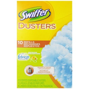 Swiffer Dusters Disposable Cleaning Dusters Refills, Febreze Sweet Citrus and Zest Scent, 10-Count (Pack of 3) (Packaging May Vary)