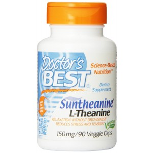 Doctor's Best Suntheanine L-Theanine (150mg) Vegetable Capsules, 90-Count