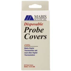 MABIS Disposable Probe Covers for Digital Thermometers, Box of 50