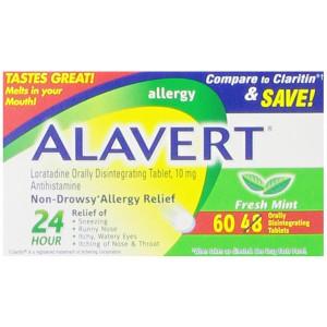 Alavert Quick Dissolving Tablets, Fresh Mint, 60 Count