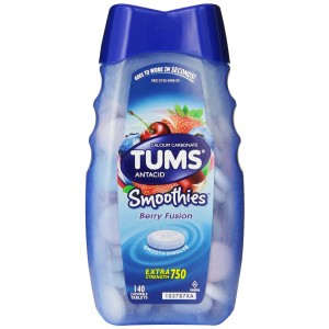 Tums Smoothies, Berry Fusion, 140 Count