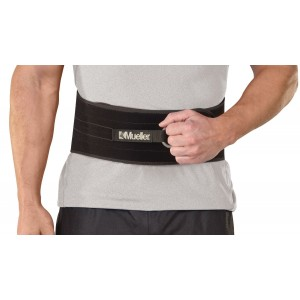 Mueller Adjustable Back and AbdomInchal Support, Black, One Size