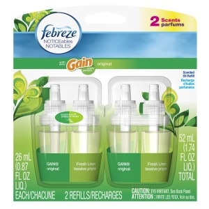 Febreze Noticeables Air Freshener Refill, Gain Original, 1.758 Ounce, 2 Count