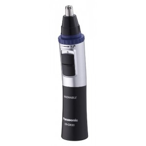 Panasonic ER-GN30-K Nose, Ear n Facial Hair Trimmer Wet/Dry with Vortex Cleaning System, Black