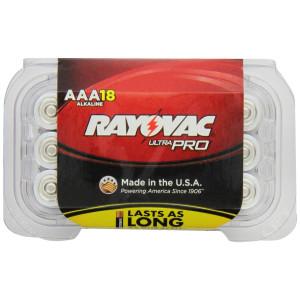 Rayovac Alkaline AAA Batteries, 18-Pack with Recloseable Lid (ALAAA-18F)