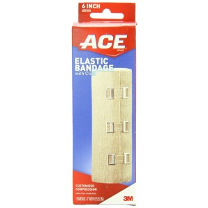 ACE Elastic Bandage with Clips, 6 Inches