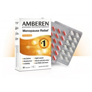 Amberen - Menopause Relief Supplement for Hot Flashes, Night Sweats and Mood Swings (1-month course)