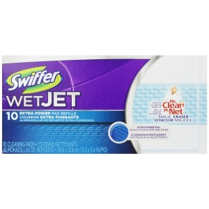 Swiffer Wetjet Pads With The Power Of Mr. Clean Magic Eraser 10 Count