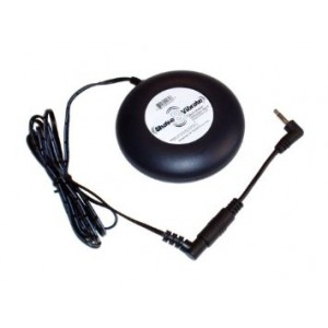 """ShakeandVibrate Bed Shaker and Vibrating Alarm 12V DC with 2.5mm x 5.5mm Barrel Plug + Adapter 2.5mm x 5.5mm Barrel Socket to 3/8"""" RCA Telephone Jack"""