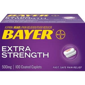 Bayer Extra Strength Bayer 500mg, 100 Count