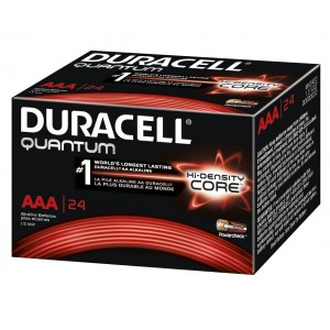 Duracell Quantum QU2400BKD09 Alkaline-Manganese Dioxide AAA Battery, 1.5V, -4 to 130 Degrees F (Pack of 24)
