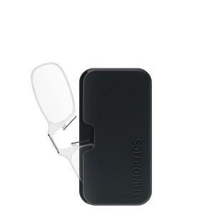 ThinOPTICS Reading Glasses on your Phone, +1.50 Clear Glasses, Black Universal Pod Case