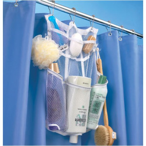 Space Saving Mesh 6-Pocket Shower Organizer