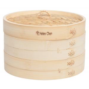 Helen Chen's Asian Kitchen Bamboo Steamer, 10-Inch