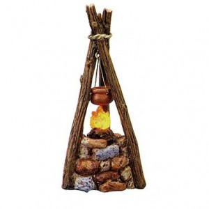 """3.75""""  Battery Operated Lighted Campfire With LED Battery Included by Roman"""
