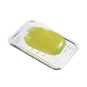 InterDesign Royal Rectangular Soap Dish, Clear