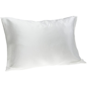 Spasilk 100% Pure Silk Facial Beauty Pillowcase, Standard/Queen, White