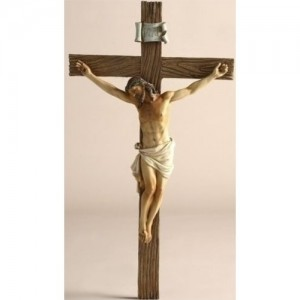 13.75 Inches High Jesus on the Cross-crucifix By Joseph's Studio 11359
