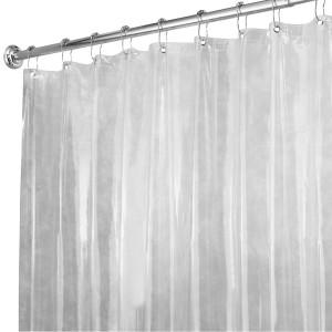 InterDesign Vinyl Shower Liner, X-Long 72 x 96, Clear