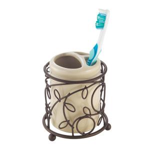 InterDesign Twigz Bath, Toothbrush Holder, Vanilla/Bronze
