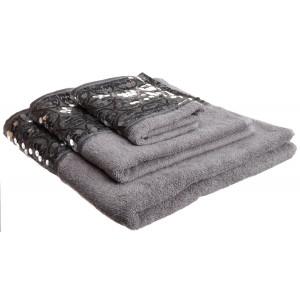 """Popular Bath """"Sinatra Silver""""  3-Piece Towel Set"""
