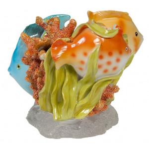 Creative Bath Rainbow Fish Resin Tooth Brush Holder, Multi-Color