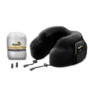 "CABEAU Memory Foam ""Evolution Pillow""  + Small Bag - It Actually Works! - BLACK"