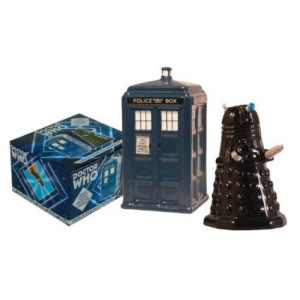 TARDIS v. Dalek Salt and Pepper Shaker