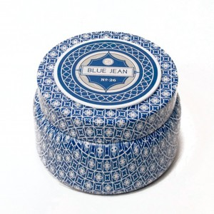 Capri Blue Printed Travel Tin - Blue Jean No26 - Fragrance Anthropologie Candle Girlfriend CB-530-BJE
