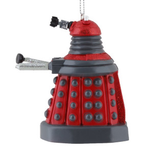 Kurt Adler 3.75-inch Doctor Who Red Dalek Blow Mold Plastic Ornament