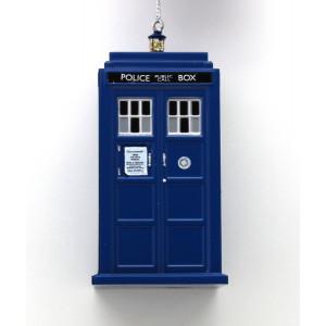 Kurt Adler 4.5-inch Doctor Who Tardis Blow Mold Plastic Ornament