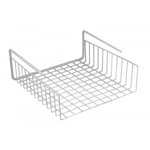 Southern Homewares Under Shelf Basket Wire Wrap Rack Storage Organizer for Kitchen Pantry, 12-1/2 by 12-1/2 by 5-Inch, White