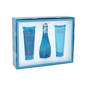 Cool Water By Davidoff For Women. Set-edt Spray 3.4 Ounces and Body Lotion 2.5 Ounces and Shower Gel 2.5 Ounces