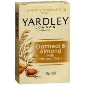 Yardley of London Naturally Moisturizing Bar Soap Oatmeal and Almond 3+1 Free