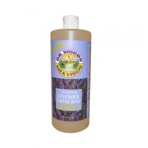 Organic Shea Butter Lavender Castile Soap Dr. Woods 32 oz Liquid