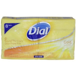 Dial Bar Gold Antibacterial Deodorant Soap, 4 oz ea 8 ct