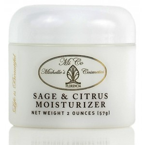 Sage and Citrus Moisturizer Best Oil Free Hydrating Cream for Sensitive, Oily, Normal, Combination Skin. MiCo Michelle's Cosmetics by Florencia 2 Oz