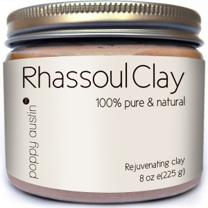 FINEST Rhassoul Clay Hair and Facial Mask (Ghassoul) by Poppy Austin. Voted Best Deep Pore Facial Cleanser, Blackhead Remover and Pore Minimizer 2015